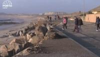 imagem do enroncamento de pedras que protege a estradae as cadsas